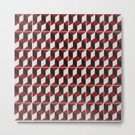 ALPHONSE IS DARK RED Metal Print