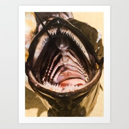 Fish Teeth Art Print