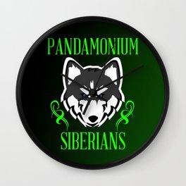 Pandamonium Siberians  Wall Clock