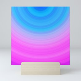 Pink & Blue Circles Mini Art Print