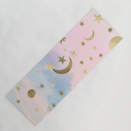 Pastel Starry Sky Moon Dream #1 #decor #art #society6 Yoga Mat