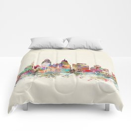cincinnati ohio skyline Comforters