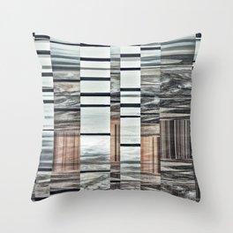 Coded Terrain Throw Pillow