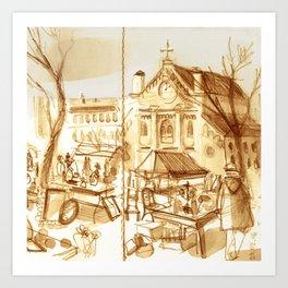 Marché Art Print