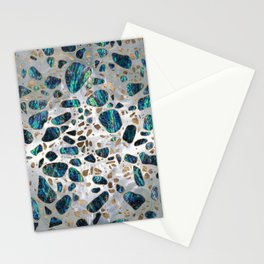 Terrazzo - Mosaic Abalone Pearl and Gold #2 Stationery Cards