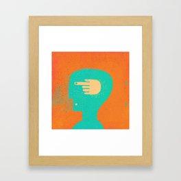 handhead Framed Art Print
