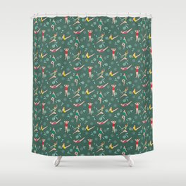 Homage to Esther Williams - Vintage Green Shower Curtain