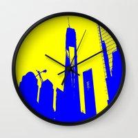 metropolis Wall Clocks featuring Metropolis by osile ignacio