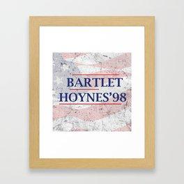 Bartlet and Hoynes '98 Framed Art Print
