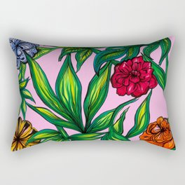 """Floral Jungle"" Rectangular Pillow"