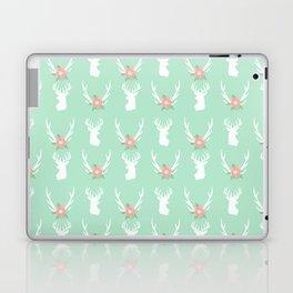 Deer antlers deer head silhouette cute modern minimal nature inspired nursery decor Laptop & iPad Skin