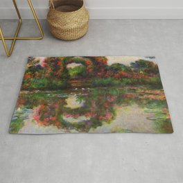 "Claude Monet ""Rose Arches at Giverny"" Rug"
