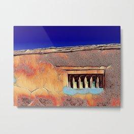 Santa Fe Wall and Window #5 Metal Print