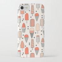 ice iPhone & iPod Cases featuring Ice Cream Season by Andrea Lauren Design