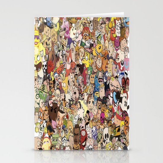 Cartoon Collage Stationery Cards