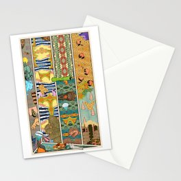 Comic Strip Wall Wth Paper Stationery Cards