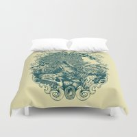 imagination Duvet Covers featuring imagination  by gupikus