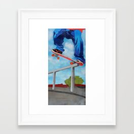 Rail grind Framed Art Print