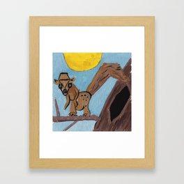 Squareland -Squarrel Framed Art Print