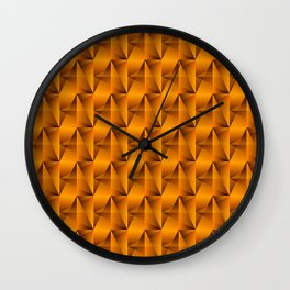Strange arrows of bronze rhombs and black strict triangles. Wall Clock