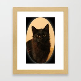 Black Kitty Framed Art Print