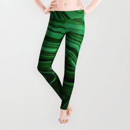 GREEN MALACHITE STONE PATTERN Leggings