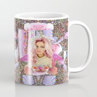 wes anderson Mugs featuring KAWAII GLITTER PAMELA ANDERSON by whateverlulu