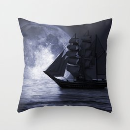 Nightsail Throw Pillow