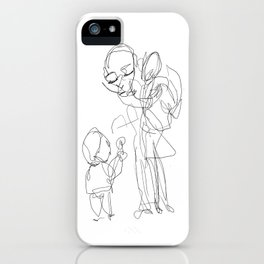 He didn`t like these sugarfree candies his parents gave him as if they were great iPhone Case
