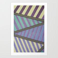 Zig Zag run Art Print