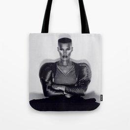Grace Jones - Warm Leatherette Tote Bag