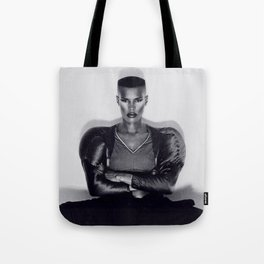 Grace Jones - Warm Leatherette Tote Bag