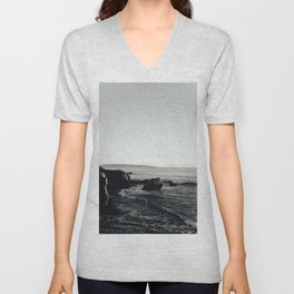 Moody Cliffside Unisex V-Neck