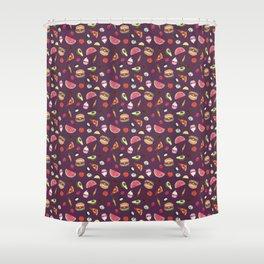 Yummy! (purple) Shower Curtain