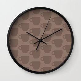 Coffee Mug Print (Brown) Wall Clock