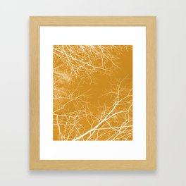 Branches Impressions on Yellow Framed Art Print