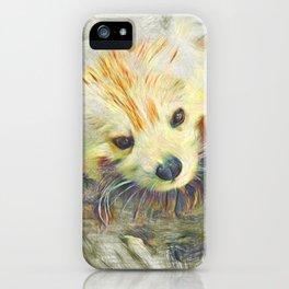 Artistic Animal Red Panda iPhone Case