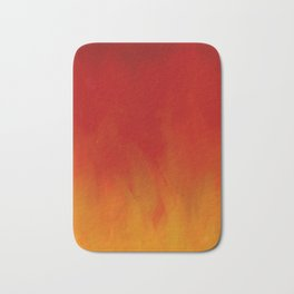 Flames of Gold Bath Mat
