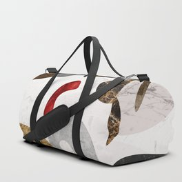 MARBLE SPHERE GALAXY GOLD RED GREY Duffle Bag