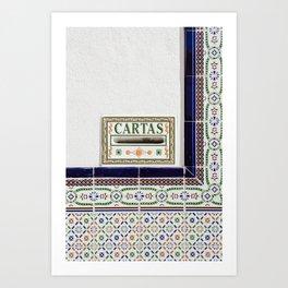 Tiles of Malaga | Spain fine art | Post cards | travel colorful photography Art Print Art Print