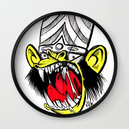 Bad Monkey Wall Clock