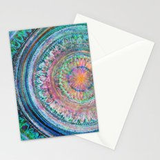 Pink and Turquoise Mandala Stationery Cards
