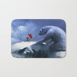 What leaves above the clouds ? Bath Mat