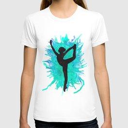Watercolour Dancer Green T-shirt