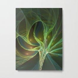 Delicate And Luminous Fractals Art Metal Print