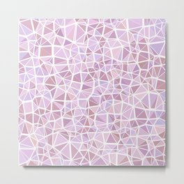 Pastel Triangles 3 Metal Print