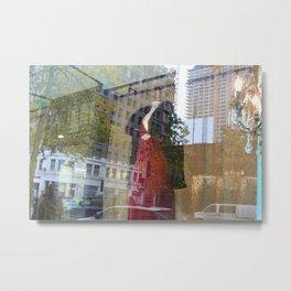 Lady in Red 2. Metal Print