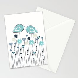 I heart birdies Stationery Cards