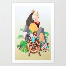 Tomb Raider 20th Anniversary Art Print