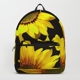 Large Sunflowers on a black background - #Society6 #buyart Backpack